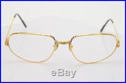 Authentic Cartier Eyeglass Frame Gold X Bordeaux 76164