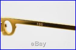 Authentic Cartier Eyeglass Frame Gold X Bordeaux 76165
