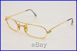 Authentic Cartier Eyeglass Frame Gold X Bordeaux 76180