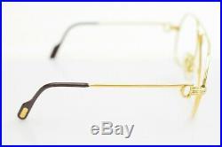 Authentic Cartier Eyeglass Frame Gold X Bordeaux (No Lenses) 1102113
