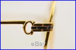 Authentic Cartier Eyeglass Frame Gold X Bordeaux WITHOUT Lenses 128347
