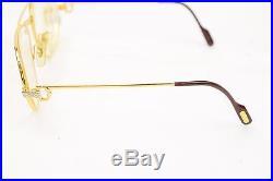 Authentic Cartier Eyeglass Frame Gold X Bordeaux With Prescription Lenses 56392