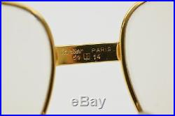 Authentic Cartier Eyeglass Frame Gold X Brown 56338