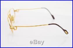 Authentic Cartier Eyeglass Frame Goldtone Bordeaux Trinity Without Lenses 56487