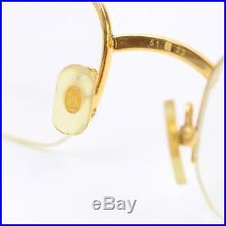 Authentic Cartier Eyeglass Frame Goldtone X Bordeaux Prescription Lenses 128449