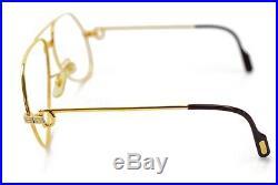 Authentic Cartier Eyeglass Frame Santos Gold X Bordeaux No Lenses 820139