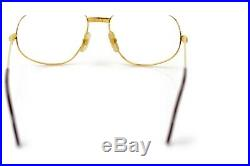 Authentic Cartier Eyeglass Frame Trinity Gold X Bordeaux No lenses 1114646