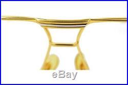 Authentic Cartier Eyeglass Frame Vendome Gold X Bordeaux No Lenses 804470