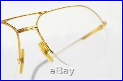 Authentic Cartier Eyeglass Frame Vendome Gold with Prescription Lenses 805229