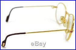Authentic Cartier Eyeglasses WithPrescription Lenses Goldtone S Sapphire 56448