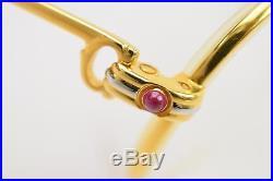 Authentic Cartier Eyeglasses With Prescription Lenses Goldtone S Sapphire 56448