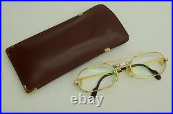 Authentic Cartier Must Santos Eyeglasses 53 20 130 GP Vintage Glasses Frames