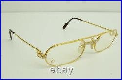 Authentic Cartier Must Santos Eyeglasses 55 20 140 GP Vintage Glasses Frames