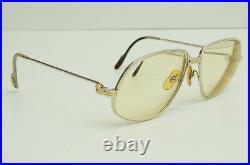 Authentic Cartier Panthere 59 14 140 Reverse GP Vintage Eyeglasses Frames