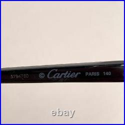 Authentic Cartier Paris Mint Eyeglasses Trinity T8101004 51-18 140mm