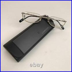 Authentic Cartier Paris Mint Silver Platine Eyeglasses T8100348 51-23 140mm