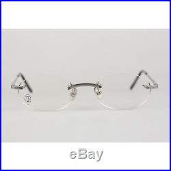 Authentic Cartier Paris Platinum T-Eye Eyeglasses Mod. T8100449 New Old Stock