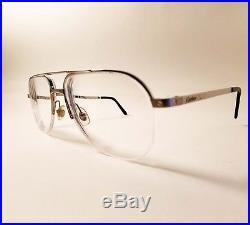 Authentic Cartier Santos Vintage Aviator Titanium Eyeglass Frames 54-16 France