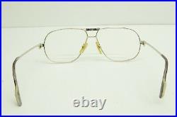 Authentic Cartier Tank Louis Platine Eyeglasses 59 12 135 Vintage Glasses Frames