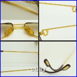 Authentic Cartier Vendome Santos Eyeglasses 56 14 130 GP Vintage Glasses Frames