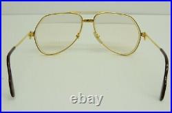 Authentic Cartier Vendome Santos Eyeglasses 59 14 130 GP Vintage Glasses Frames