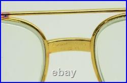 Authentic Cartier Vendome Santos Eyeglasses 62 14 140 GP Vintage Glasses w Box