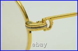 Authentic Cartier Vintage Eyeglasses Tank Louis 62 12 135 GP Gold Rx Glasses