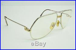 Authentic Cartier Vintage Eyeglasses Vendome Louis 62 14 140 Rx Platine Aviator