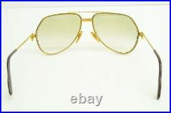 Authentic Cartier Vintage Eyeglasses Vendome Santos 59 14 130 Gold Rx Glasses