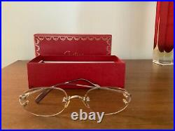 Authentic Cartier White Gold Plated (Rodium) Frameless Eye Glasses