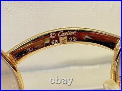 Authentic Vintage Cartier Sunglasses 55 22 135b Bubinga Wood