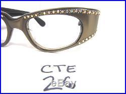 Authentic Vintage Medium Fit 1950s/60s Cat Eye Eyeglass Frame Brown (CTE-26)