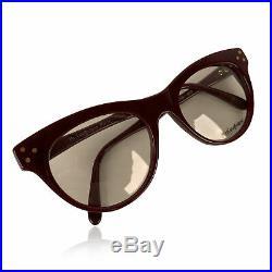 Authentic Yves Saint Laurent Vintage Burgundy Procris 52mm Eyeglasses Frame