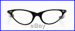 Authentic vintage 1950s cateye eglasses Selecta Caresse black and white two tone
