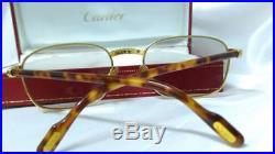 Authentic vintage Must de Cartier Aube sunglasses eyeglasses Frames Paris 90s