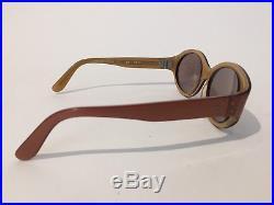 Beausoleil Tortoise Paris France Rare Broze Rose Gold VTG Cat eye Frame Only A6