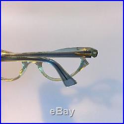 Blue Vintage Eyeglasses, Clear Blue Rhinestone Glasses, Cateye Glasses by Swank