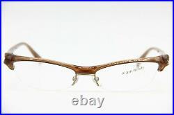 Brand New Rare Vintage Alain Mikli Al0820 0002 Brown Authentic Eyeglasses 55-17