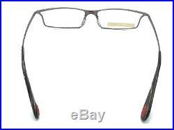 Bugatti 352 24M Gunmetal Titanium Rectangular Eyeglasses Vintage 54-16 145 NOS