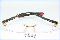 Bugatti 408-03 Original Glasses Eyeglasses Gold Filled Horn Rimless Vintage