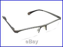 Bugatti 495 109L Matte Brown Silver Half-Rimless Eyeglasses Frame Vintage France