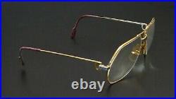 CARTIER 80s frame f. Sunglasses eyewear SANTOS Aviator Pilotenbrille Vintage