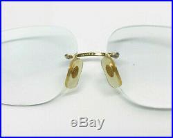CARTIER DIAMOND Vintage! Eyeglasses / Sunglasses Panthere Santos Gold