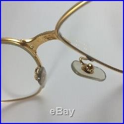 CARTIER Eye Frame c1988 Vintage Panthere Lunettes 22ct Gold Glasses 59-16 140