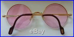 CARTIER GOLD FRAME ROUND LENS EYEGLASSES Authentic, Vintage, Pre-owned