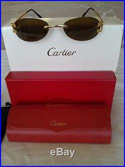 Cartier New Sunglasses Eyeglasses Paris Serial#31968589 France Excellent
