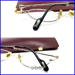 CARTIER OVAL TRINITY Vintage Eyeglasses / Sunglasses Silver Case