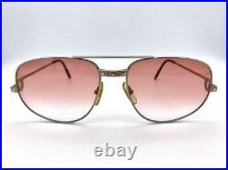 CARTIER PARIS mod. Santos Aviator Sunglasses ultra rare Made in France 80S Nos