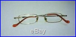 CARTIER Paris 135 Vintage Eye Glasses 48 18 Gold Plated HL002 Authentic WOW