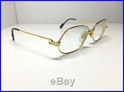 CARTIER Paris Eyeglasses Gold © 89 Cartier Frame 54-15-130 RARE VINTAGE